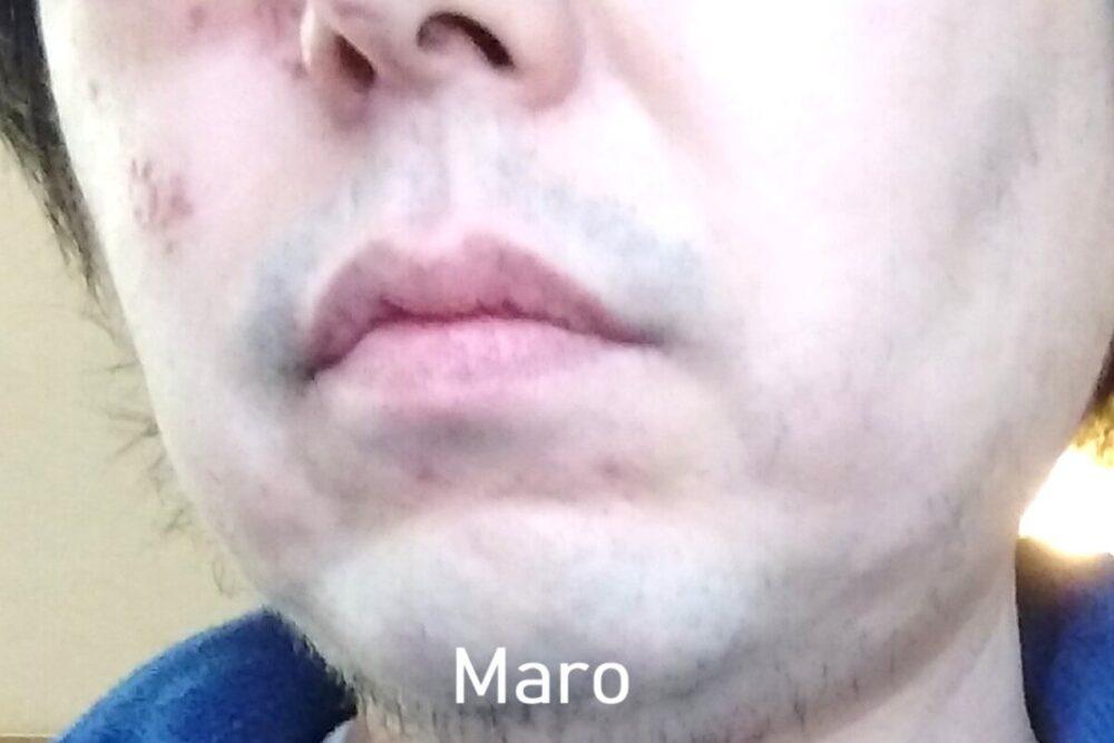カミソリでヒゲを剃ってみた